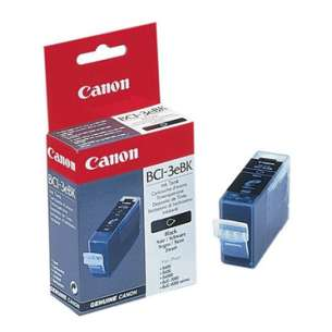 Genuine Brand Canon BCI-3eBk inkjet cartridge - black cartridge