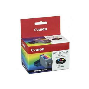 Genuine Brand Canon BCI-61 inkjet cartridge - color cartridge