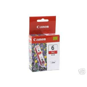 Genuine Brand Canon BCI-6R inkjet cartridge - red