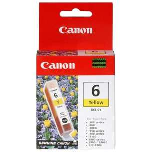 Genuine Brand Canon BCI-6Y inkjet cartridge - yellow