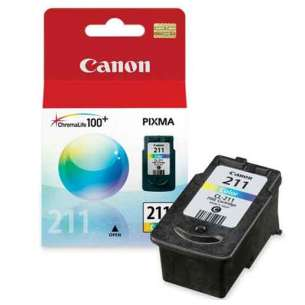 Genuine Brand Canon CL-211 inkjet cartridge - color cartridge