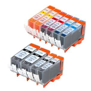 Compatible inkjet cartridges Multipack for Canon CLI-221 / PGI-220 - 10 pack