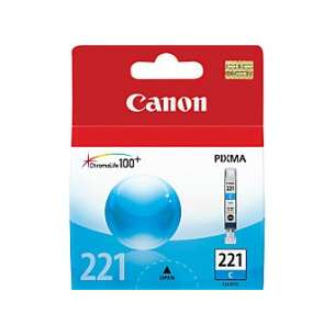 Genuine Brand Canon CLI-221C inkjet cartridge - cyan