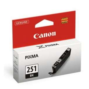 Genuine Brand Canon CLI-251Bk Inkjet Cartridge - Black Cartridge