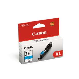 Genuine Brand Canon CLI-251C XL Inkjet Cartridge - Cyan