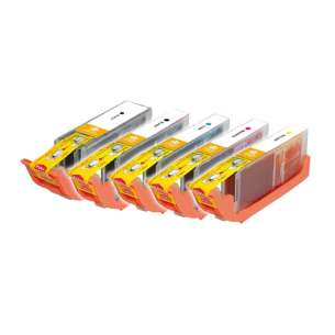 Compatible Inkjet Cartridges Multipack For Canon CLI-251 XL / PGI-250 XL - 5 Pack