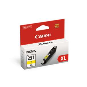 Genuine Brand Canon CLI-251Y XL Inkjet Cartridge - Yellow