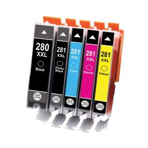 Compatible inj cartridges for Canada Multipack for Canon CLI-281 XXL / PGI-280 XXL - 5 pack