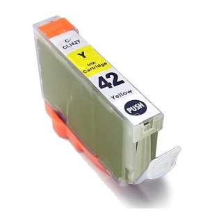 Compatible ink cartridge to replace Canon CLI-42Y - yellow