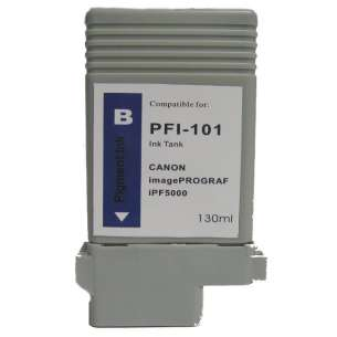 Compatible ink cartridge to replace Canon PFI-101B - blue