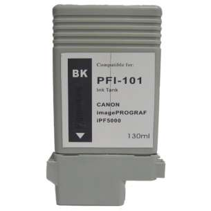 Compatible ink cartridge to replace Canon PFI-101BK - black cartridge