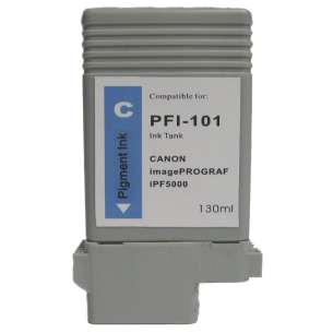 Compatible ink cartridge to replace Canon PFI-101C - cyan