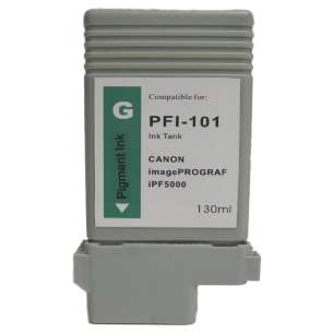 Compatible ink cartridge to replace Canon PFI-101G - green