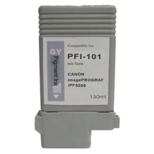 Compatible ink cartridge to replace Canon PFI-101GY - gray