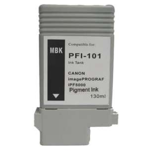 Compatible ink cartridge to replace Canon PFI-101MBK - matte black