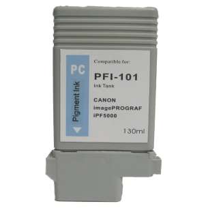 Compatible ink cartridge to replace Canon PFI-101PC - photo cyan