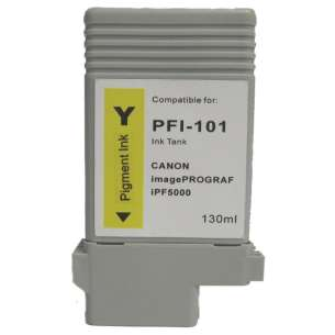 Compatible ink cartridge to replace Canon PFI-101Y - yellow