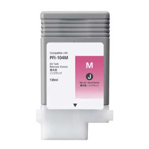 Compatible ink cartridge to replace Canon PFI-104M - magenta