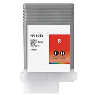 Compatible ink cartridge to replace Canon PFI-105R - red