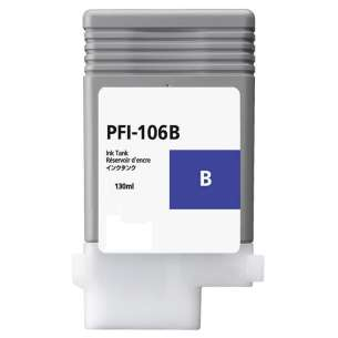 Compatible ink cartridge to replace Canon PFI-106B - blue