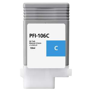 Compatible ink cartridge to replace Canon PFI-106C - cyan