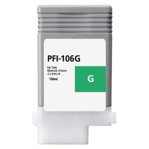 Compatible ink cartridge to replace Canon PFI-106G - green