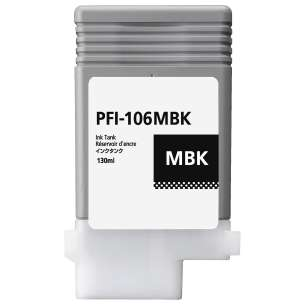 Compatible ink cartridge to replace Canon PFI-106MBK - matte black