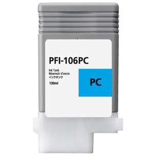 Compatible ink cartridge to replace Canon PFI-106PC - photo cyan