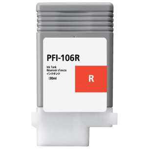 Compatible ink cartridge to replace Canon PFI-106R - red