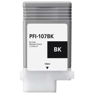 Compatible ink cartridge to replace Canon PFI-107BK - black cartridge