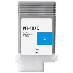Compatible ink cartridge to replace Canon PFI-107C - cyan