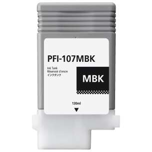Compatible ink cartridge to replace Canon PFI-107MBK - matte black