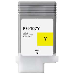 Compatible ink cartridge to replace Canon PFI-107Y - yellow