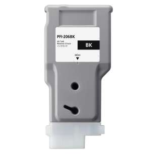 Compatible ink cartridge to replace Canon PFI-206BK - black cartridge