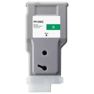 Compatible ink cartridge to replace Canon PFI-206G - green