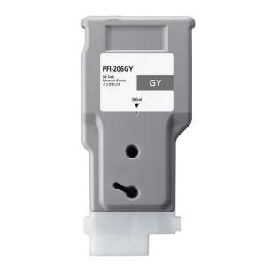 Compatible ink cartridge to replace Canon PFI-206GY - gray