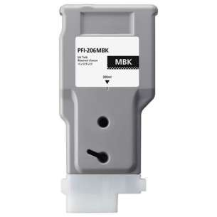 Compatible ink cartridge to replace Canon PFI-206MBK - matte black