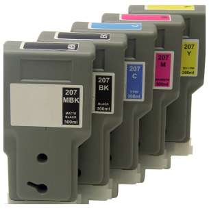 Compatible inkjet cartridges Multipack for Canon PFI-207 - 5 pack