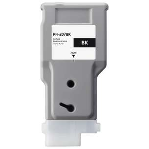 Compatible ink cartridge to replace Canon PFI-207BK - black cartridge