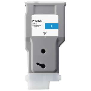 Compatible ink cartridge to replace Canon PFI-207C - cyan