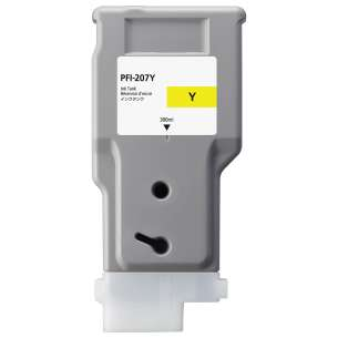 Compatible ink cartridge to replace Canon PFI-207Y - yellow