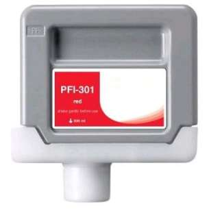 Compatible ink cartridge to replace Canon PFI-301R - red