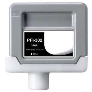 Compatible ink cartridge to replace Canon PFI-302BK - black cartridge