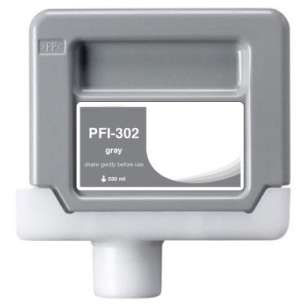 Compatible ink cartridge to replace Canon PFI-302GY - gray