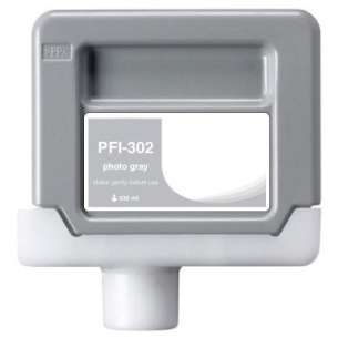 Compatible ink cartridge to replace Canon PFI-302PGY - photo gray