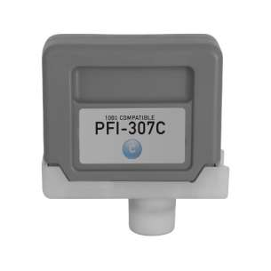 Compatible inkjet cartridge for Canon PFI-307C - cyan