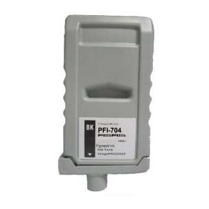 Compatible ink cartridge to replace Canon PFI-704BK - black cartridge