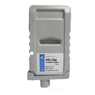 Compatible ink cartridge to replace Canon PFI-704C - cyan