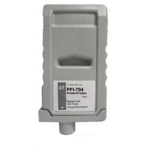Compatible ink cartridge to replace Canon PFI-704GY - gray