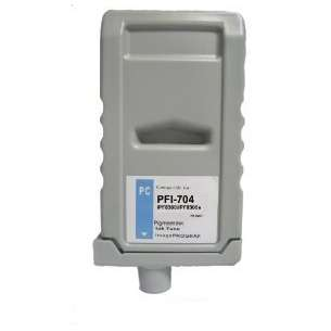 Compatible ink cartridge to replace Canon PFI-704PC - photo cyan